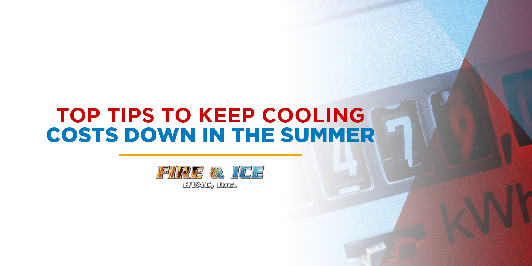 Top Tips to Keep Cooling Costs Down in the Summer